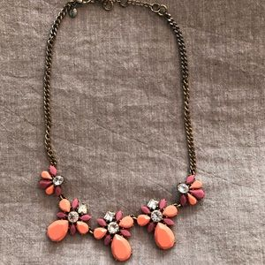 Coral and gemstone necklace J Crew